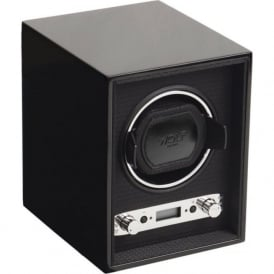 Meridian Black Wood & Chrome Single Watch Winder 2.7