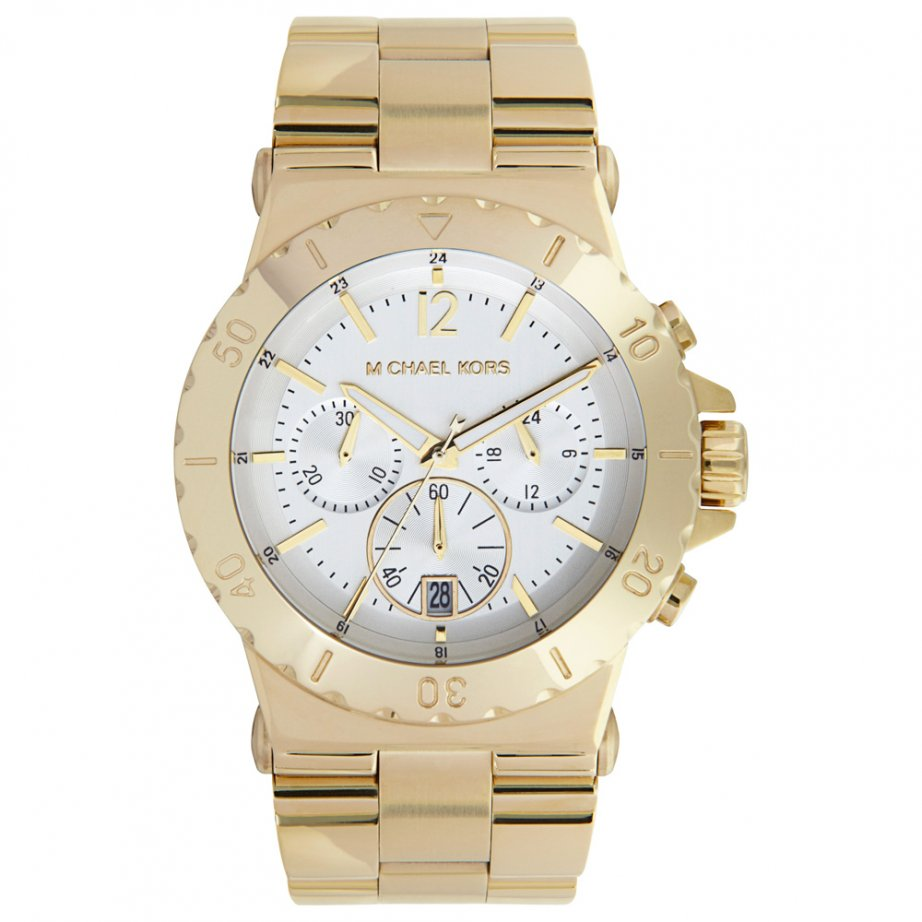 michael kors chronograph gold tone watch mk5463 cheapest. Black Bedroom Furniture Sets. Home Design Ideas