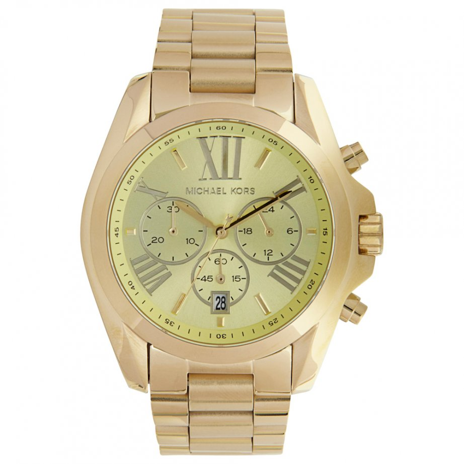 michael kors chronograph gold stainless steel mk5605