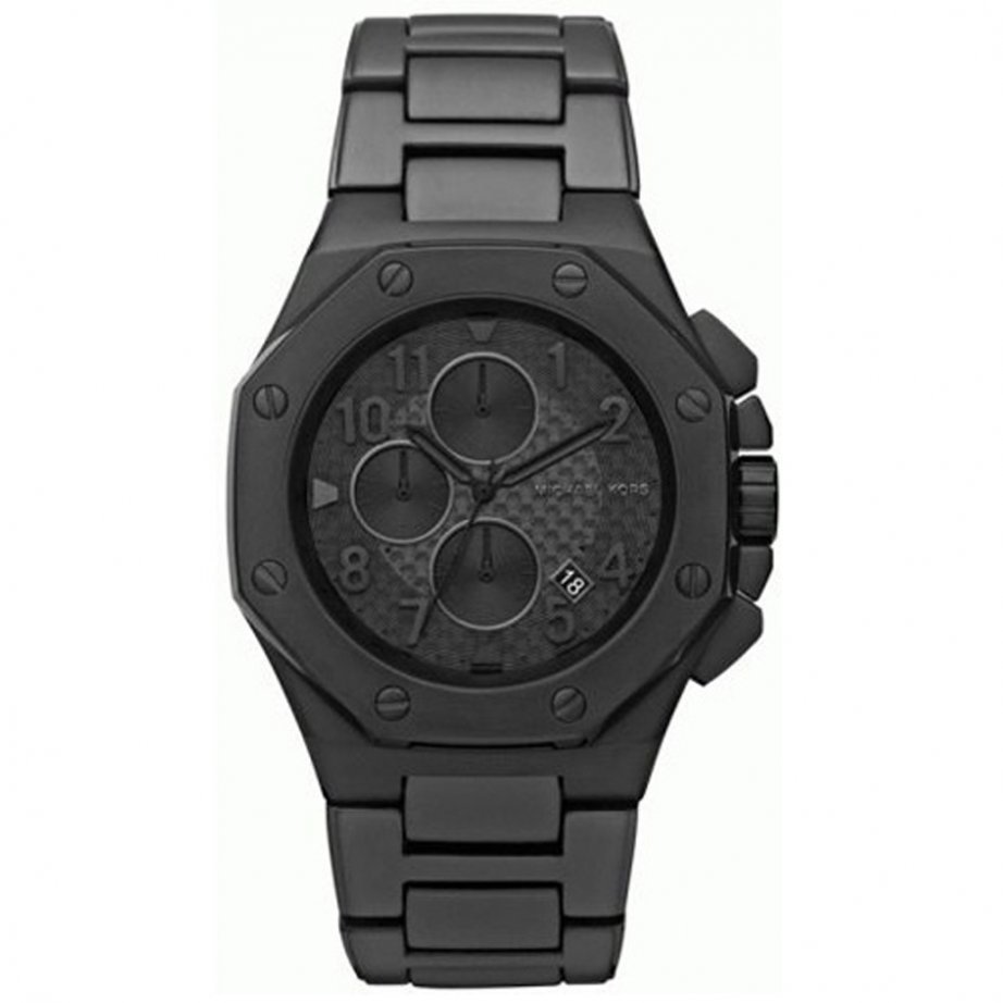 michael kors chronograph black ion stainless steel