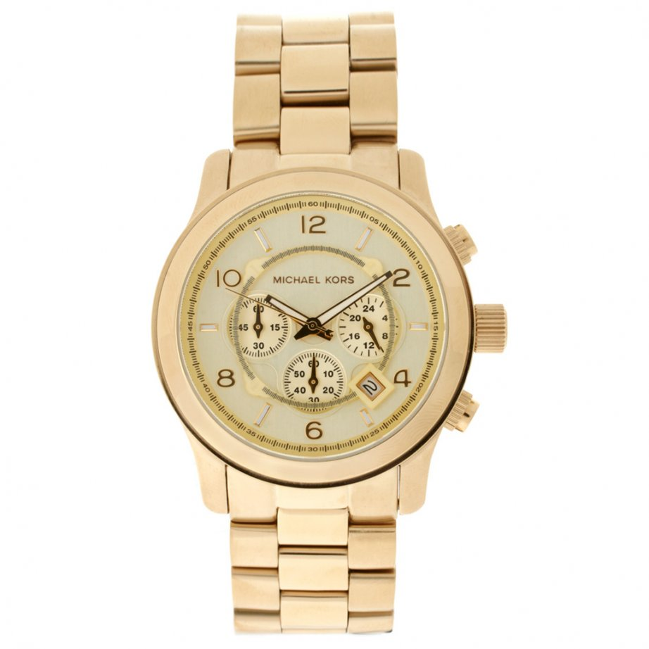 michael kors chronograph gold mk8077 cheapest