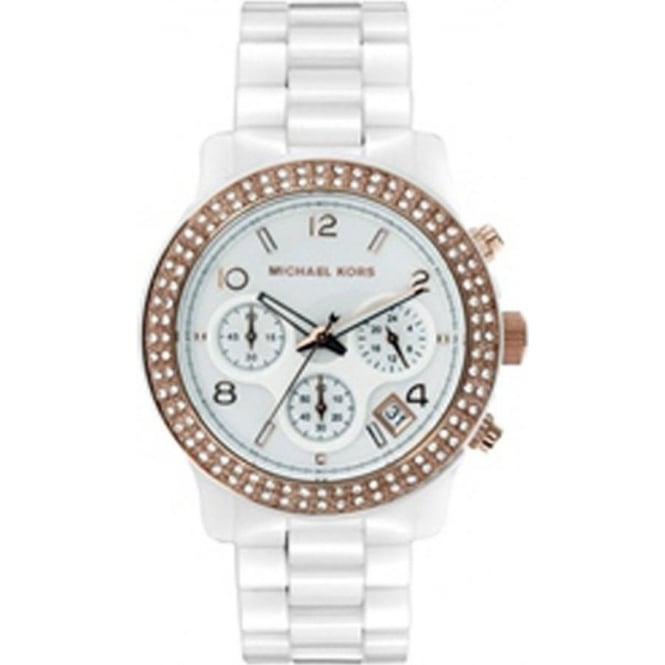 Michael Kors Watches Ladies Chronograph White Watch MK5269