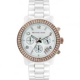 Ladies Chronograph White Watch MK5269