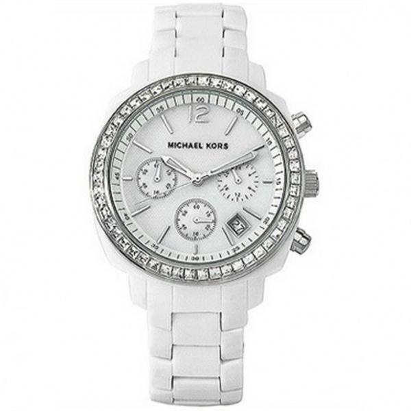 michael kors chronograph white mk5079
