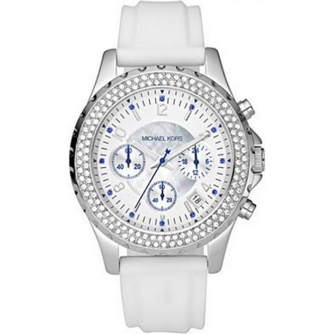 Michael Kors Watches Ladies Chronograph White Watch MK5389