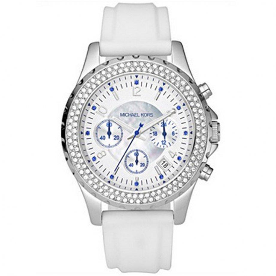 michael kors chronograph white mk5389