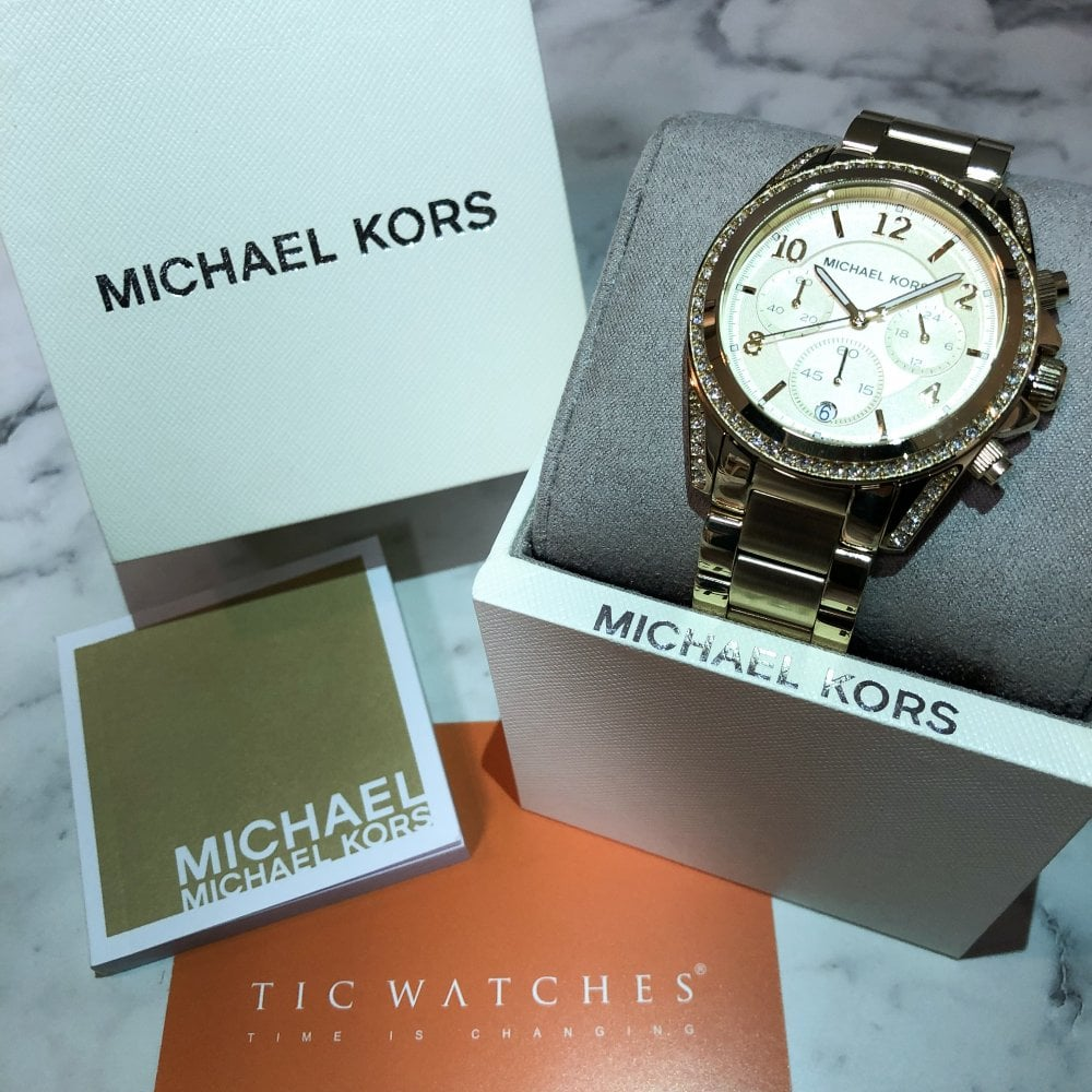 e24f8a9e85b4 MK5166 Blair Ladies Gold Watch