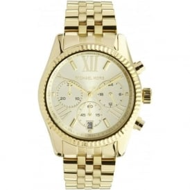 Michael Kors Watches MK5556 Ladies Gold-Tone Chronograph Watch