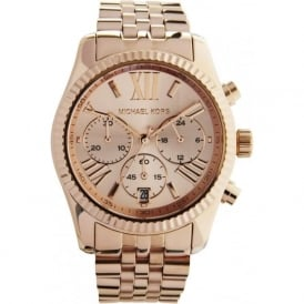 Michael Kors Watches MK5569 Ladies Rose Gold-Tone Chronograph Watch
