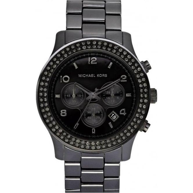 Michael Kors Watches Unisex Chronograph Black Ceramic Watch MK5360