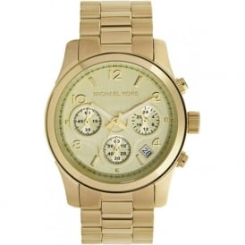 Michael Kors Watches Ladies Chronograph Gold Tone Plated Watch MK5055