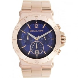Michael Kors Watches Ladies Chronograph PVD Rose Gold Watch MK5410