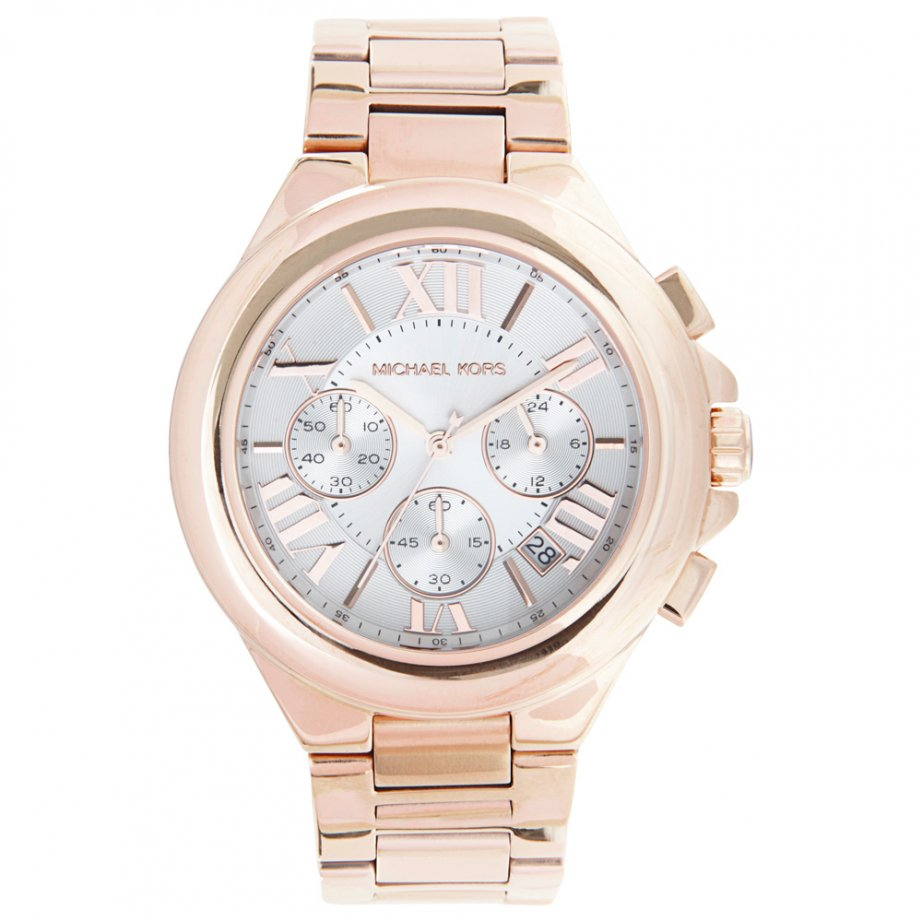 michael kors chronograph rose gold stainless steel watch