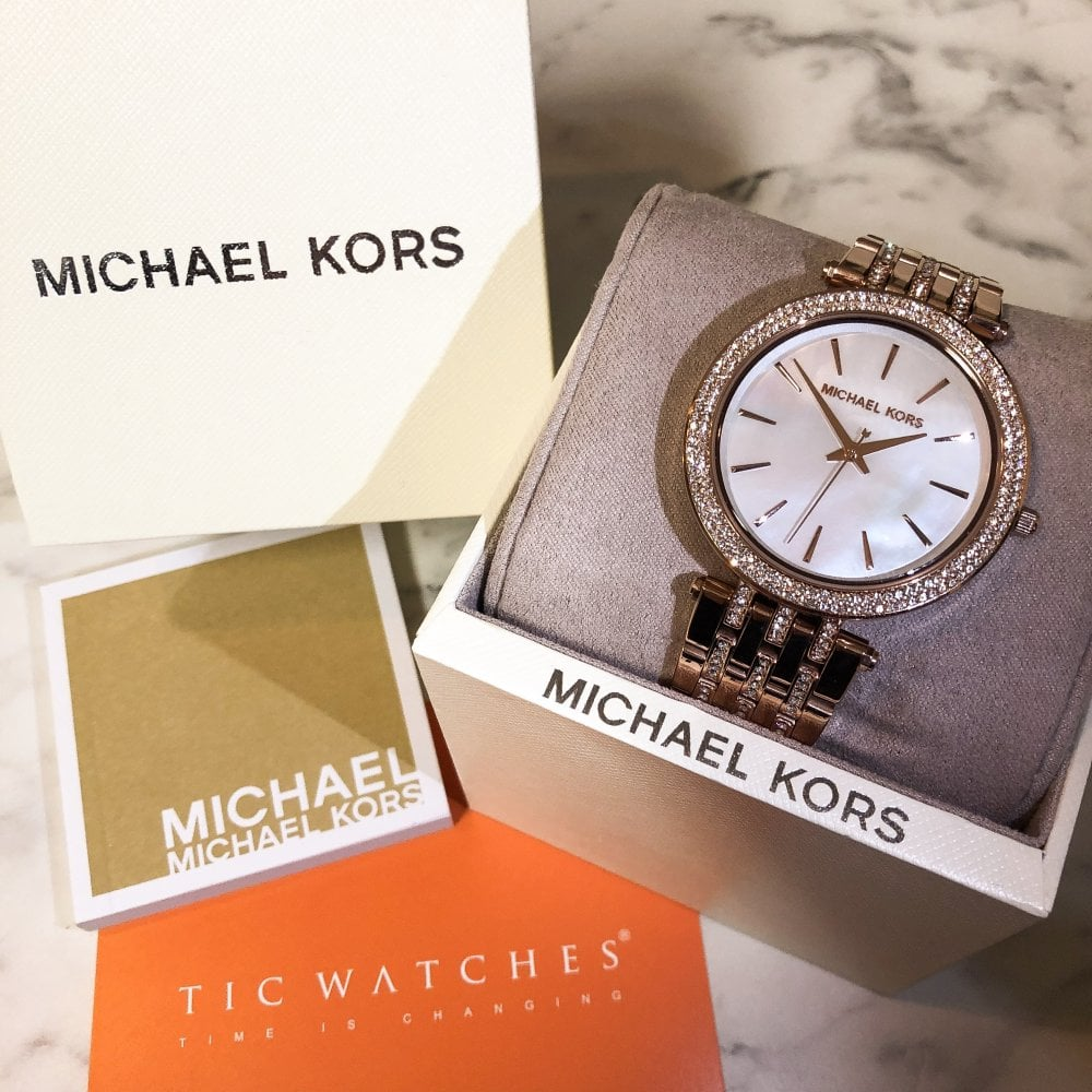e1143f052cb5 Michael Kors MK3220 Darci Rose Gold Glitz Ladies Watch available at ...