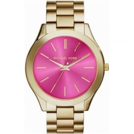 Michael Kors Watches MK3264 Runway Pink & Gold Stainless Steel Ladies Watch