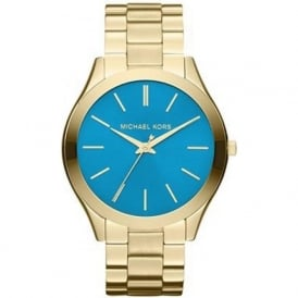 Michael Kors Watches MK3265 Runway Blue & Gold Stainless Steel Ladies Watch