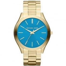 Michael Kors Watches MK3265 Runway Blue & Gold Stainless Steel Ladies Watch