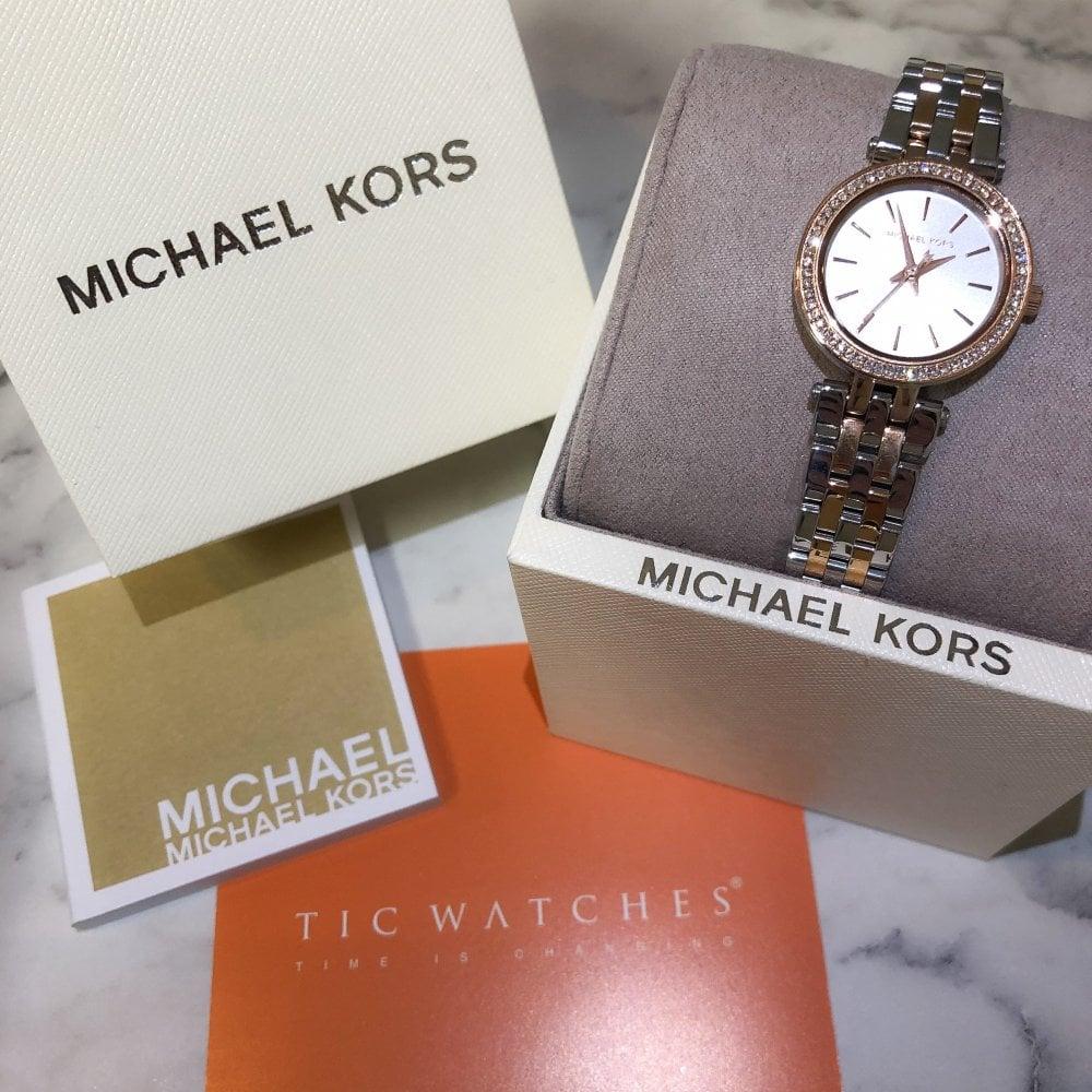 MK3298 Ladies Darci Silver & Rose Gold Watch