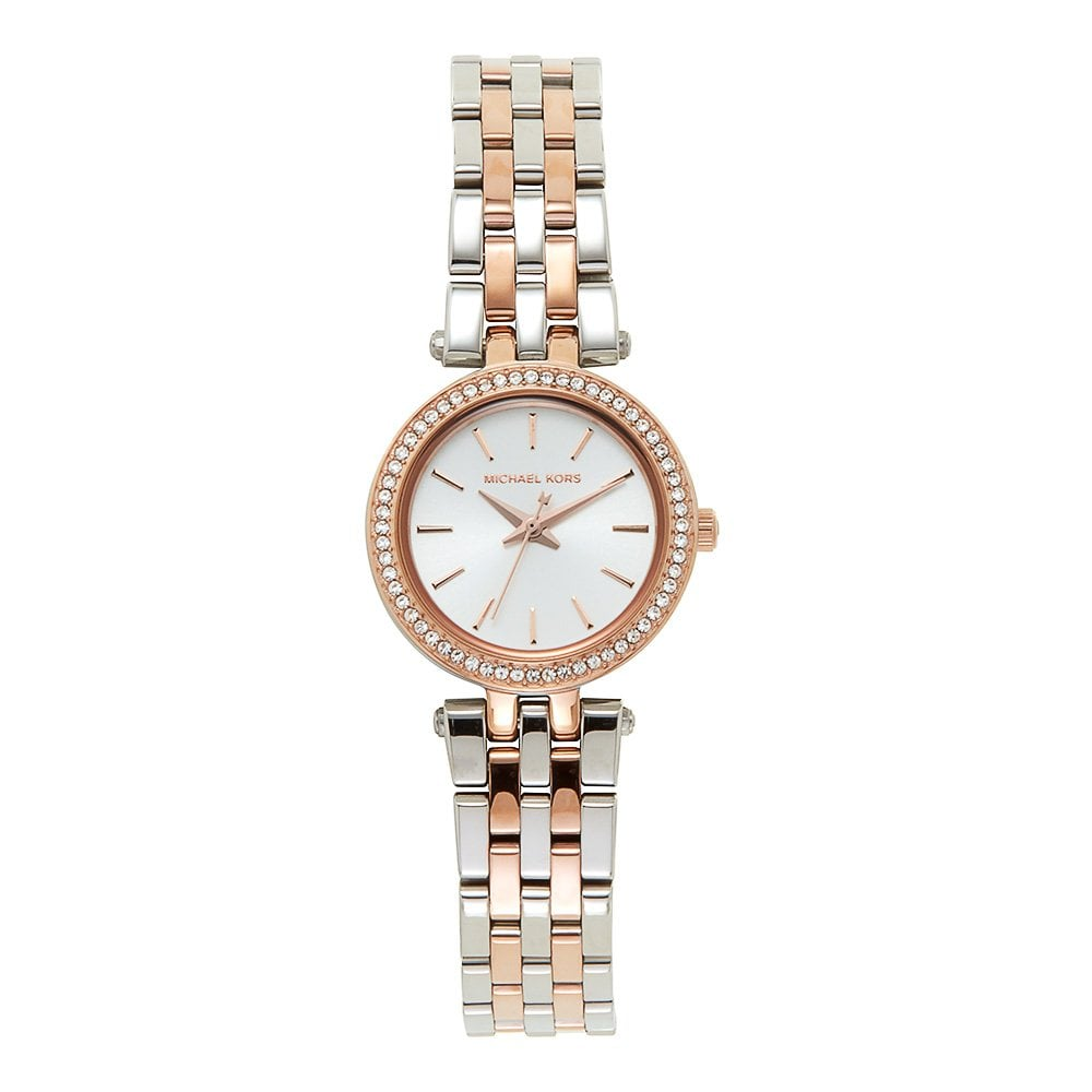 564fbf6ef758 MK3298 Mini Darci Silver   Rose Gold Ladies Watch