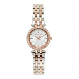 dbc61c2d2649 MK3298 Mini Darci Silver   Rose Gold Ladies Watch In Stock · Michael Kors  Watches ...