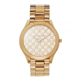 MK3336 Slim Runway Rose Gold Ladies Watch