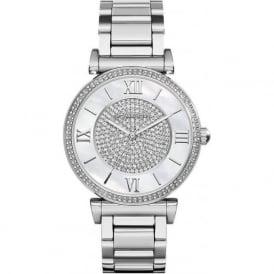 Michael Kors Watches MK3355 Catlin Silver Stainless Steel Ladies Watch