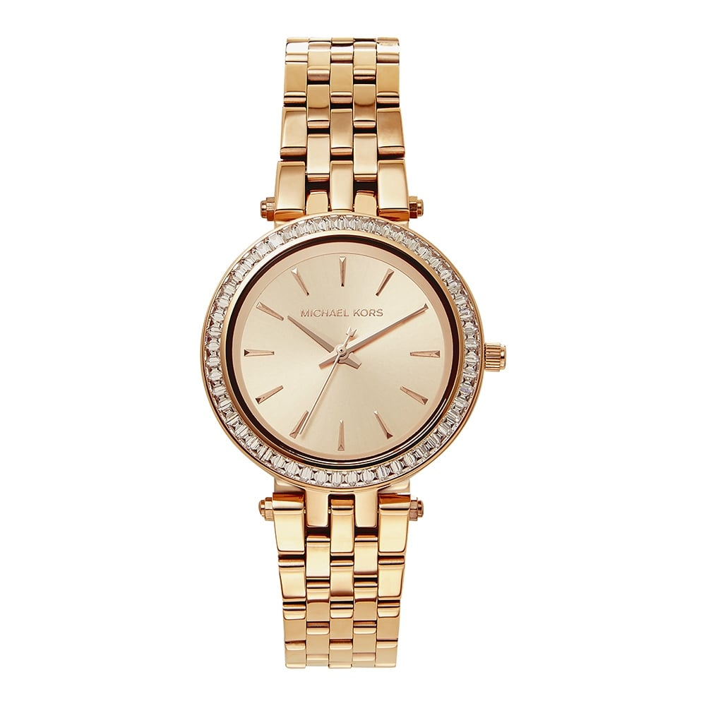f21a44a1fa2e Michael Kors MK3366 Darci Rose Gold Stainless Steel Ladies Watch ...