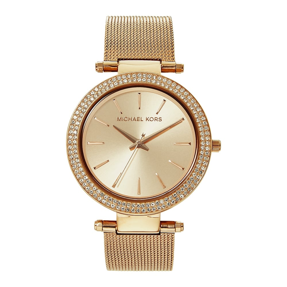 ff6ea7535fcd Michael Kors MK3369 Darci Rose Gold Mesh Ladies Watch available at Tic  Watches