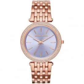 Michael Kors Watches MK3400 Darci Purple & Rose Gold Tone Stainless Steel Ladies Watch