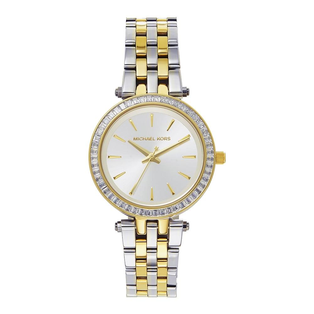 15db1c8e8b916 Michael Kors MK3405 Mini Darci Two Tone Stainless Steel Ladies Watch