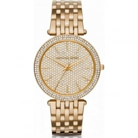Michael Kors Watches MK3438 Darci Embedded Crystal & Gold Tone Stainless Steel Ladies Watch