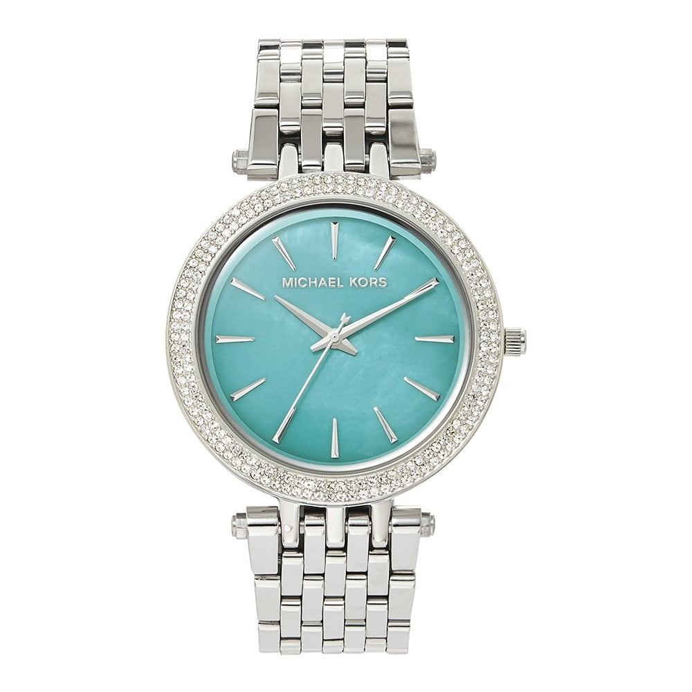 a697559e4693 MK3515 Darci Turquoise Mother of Pearl  amp  Silver Stainless Steel Ladies  Watch