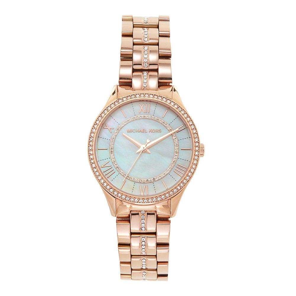 2c1419c04c67 MK3716 Lauryn Rose Gold   Silver Dial Ladies Stainless Steel Watch