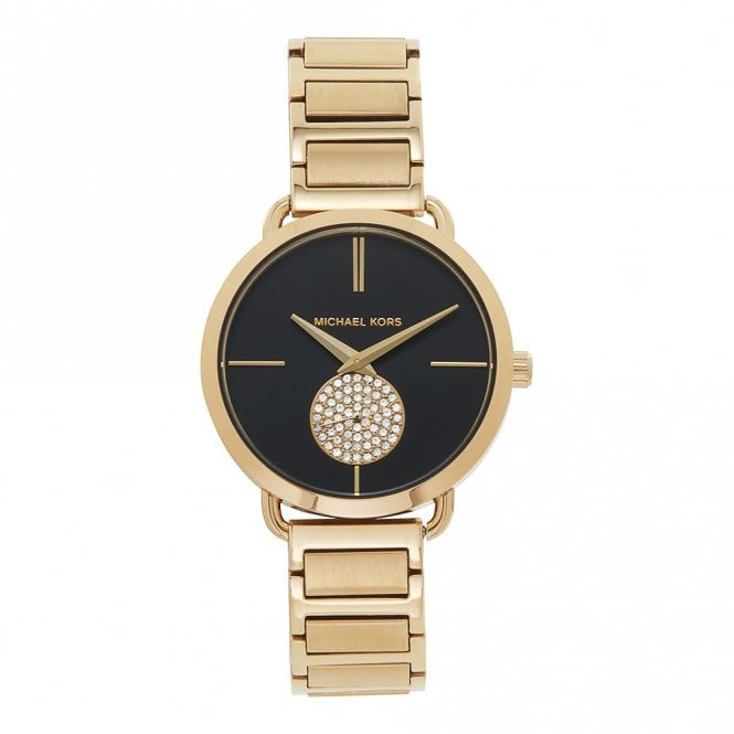 7d0dd98a3d20 Buy The Michael Kors MK3788 Portia Gold   Black Ladies Watch From ...