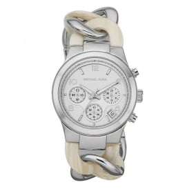 Michael Kors Watches MK4263 Runway Silver & Two Tone Stainless Steel Ladies Chronograph Watch