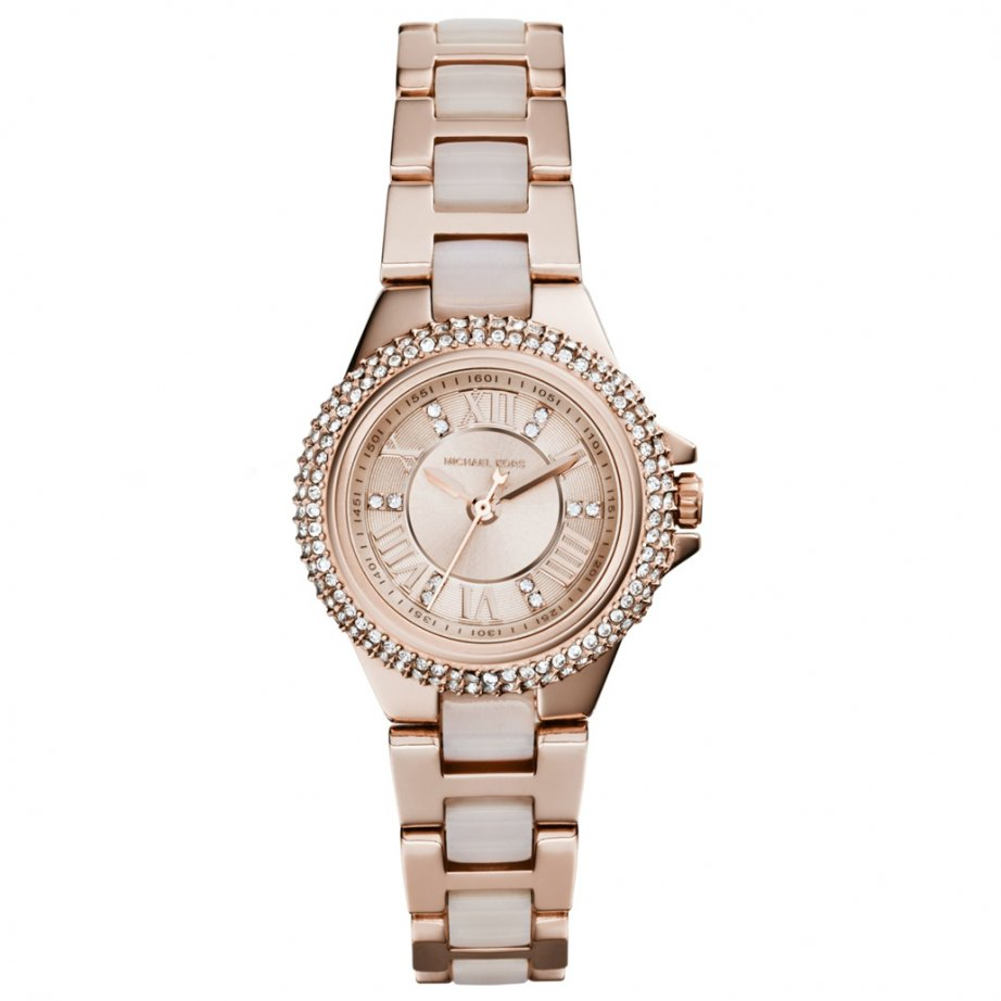 Michael kors mk4292 rose gold ladies crystal watch from tic watches for Crystal ladies watch