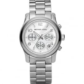 Michael Kors Watches MK5076 Runway Silver Chronograph Ladies Watch