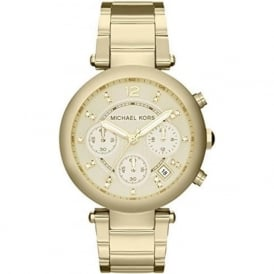 Michael Kors Watches MK5276 Parker Gold Chronograph Ladies Watch