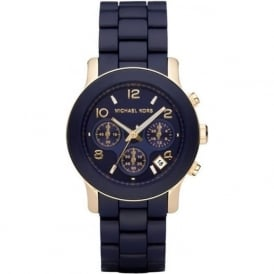 Michael Kors Watches MK5316 Navy & Gold Chronograph Ladies Watch