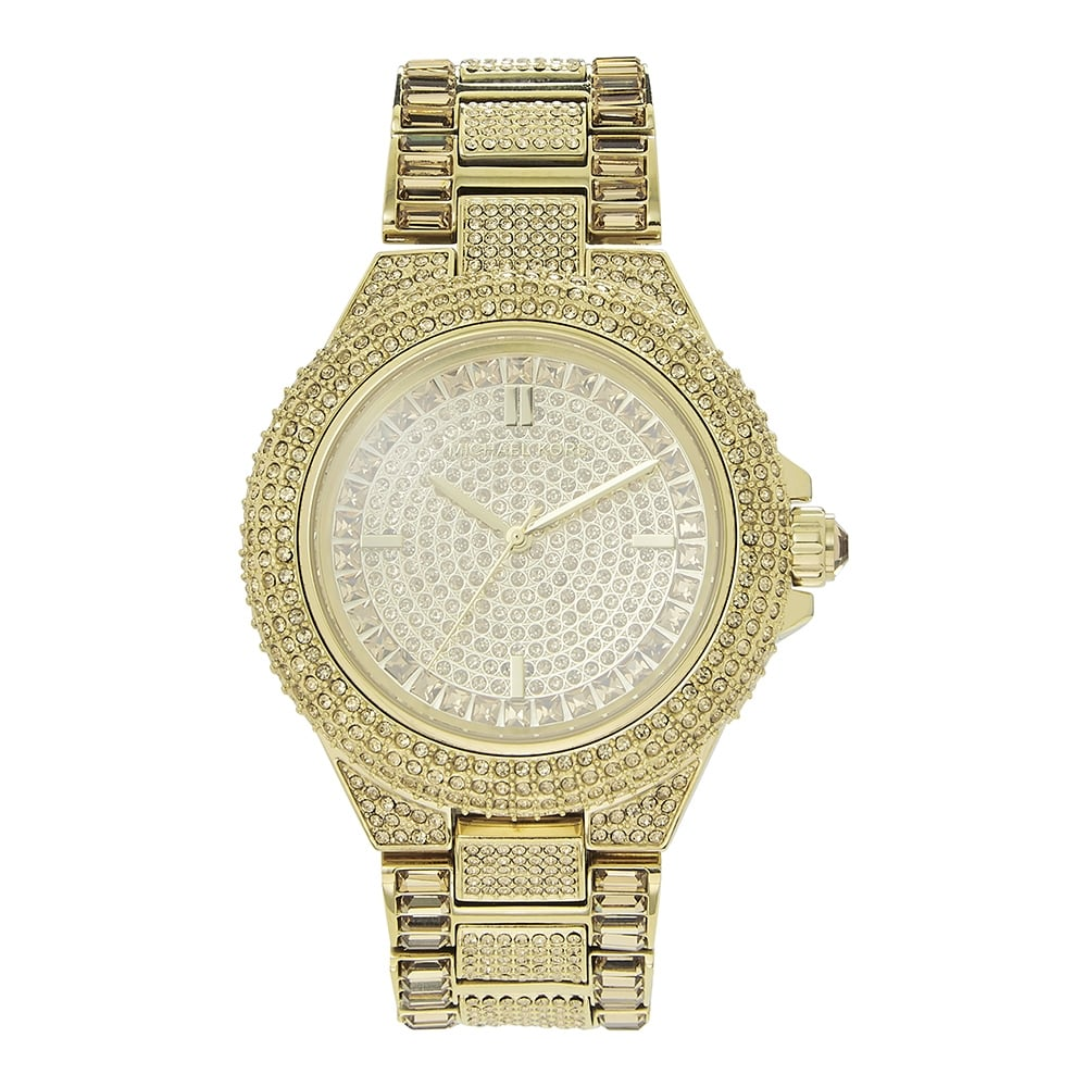 f77261b68e5 Michael Kors Watches Michael Kors Watches MK5720 Camille Glitz Gold  Stainless Steel Ladies Watch