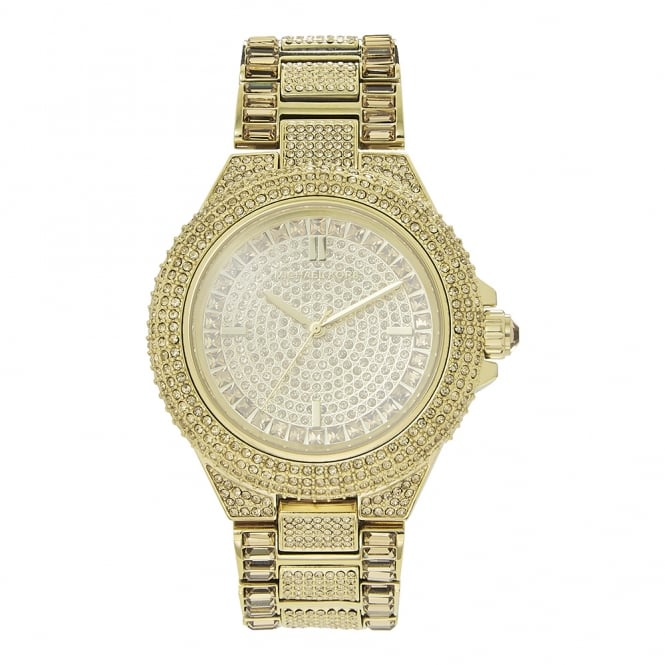 0b860d3ef21f MK5720 Camille Glitz Gold Stainless Steel Ladies Watch available at ...