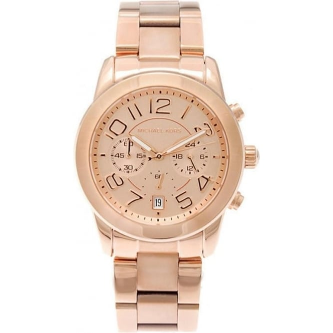 f7ec02d2023a MK5727 Michael Kors Mercer Rose Gold Chronograph Ladies Watch ...