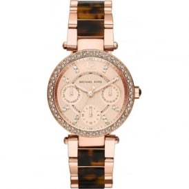 Michael Kors Watches MK5841 Mini Parker Rose Gold & Brown Ladies Watch