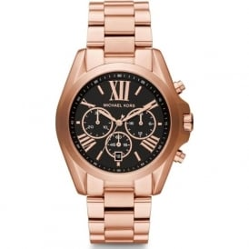 Michael Kors Watches MK5854 Rose Gold & Black Chronograph Ladies Watch