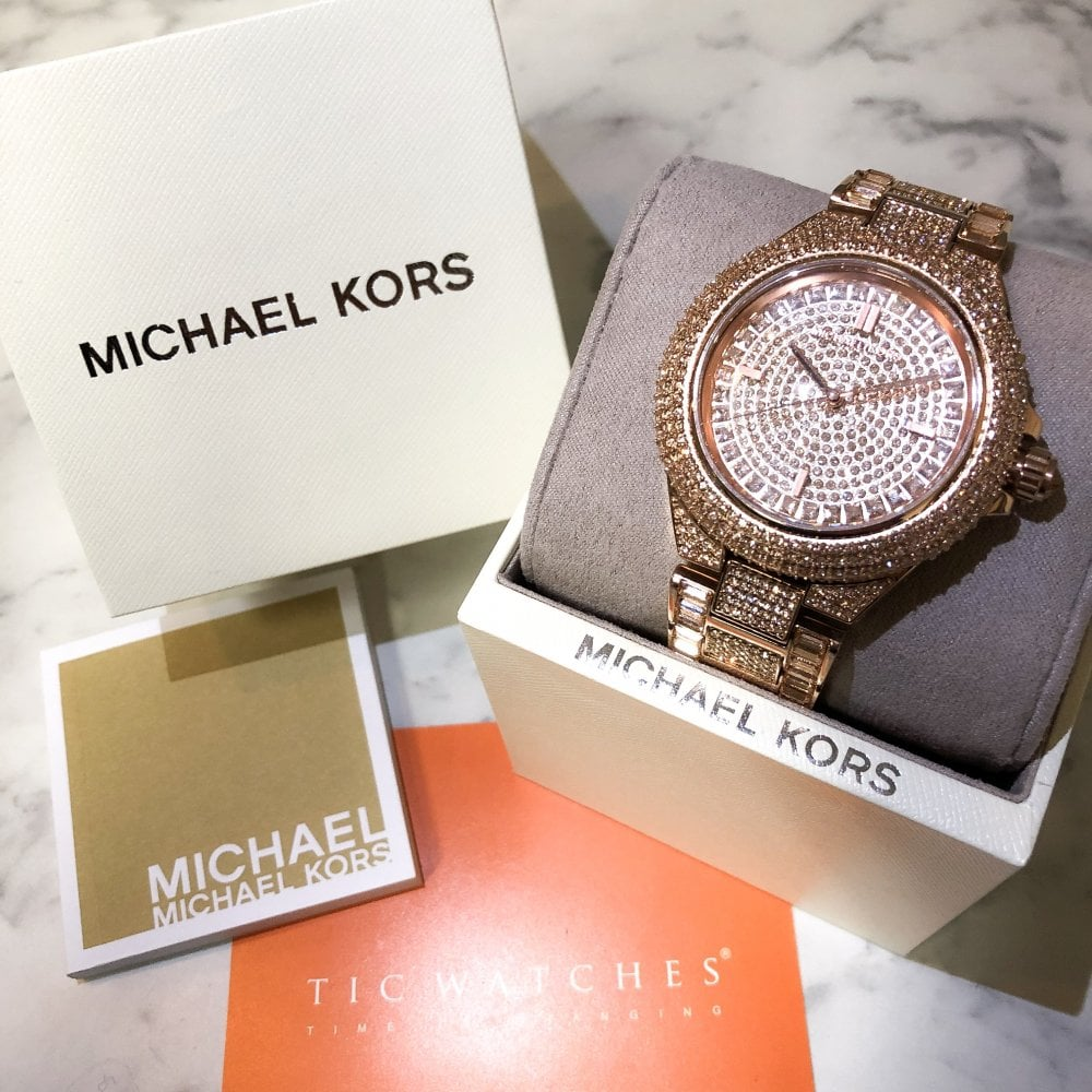 9ba16782cdd6 Michael Kors MK5862 Glitz Camille Rose Gold Ladies Watch available ...