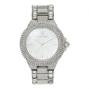 Michael Kors Watches MK5869 Camille Silver Glitz Stainless Steel Ladies Watch