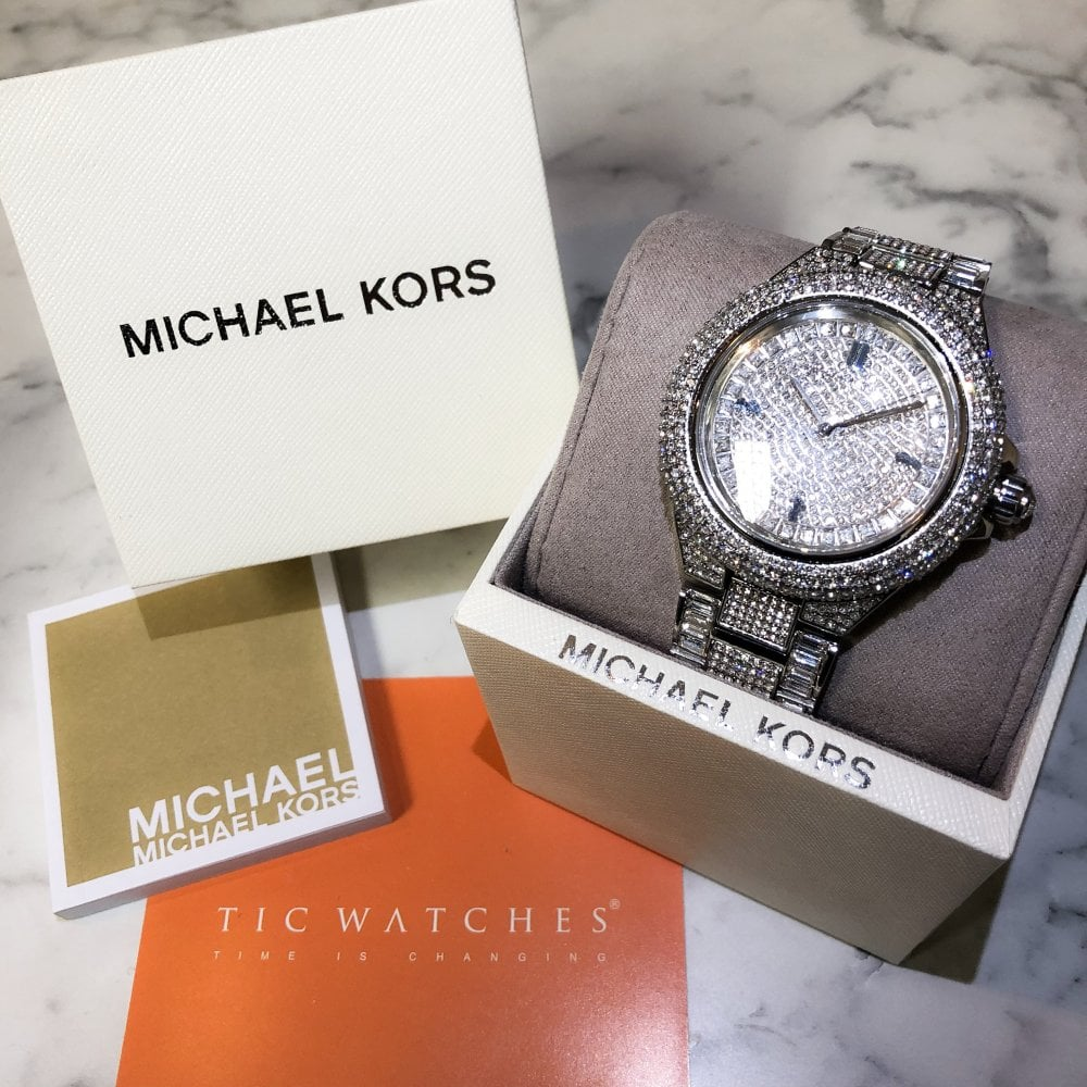 26aec9347105 Michael Kors MK5869 Camille Silver Glitz Ladies Watch available at ...