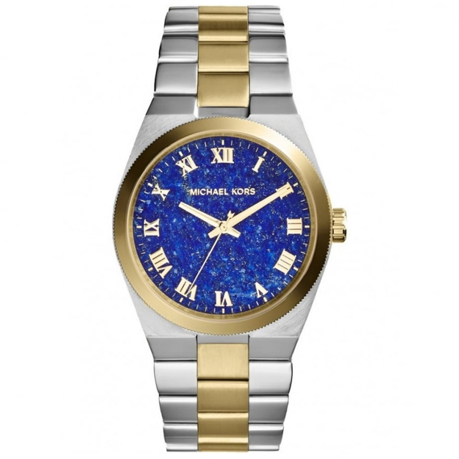 mk5893 michael kors channing blue and two tone metal