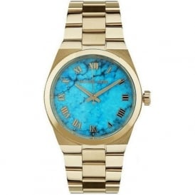Michael Kors Watches MK5894 Blue Dial & Gold Stainless Steel Ladies Watch
