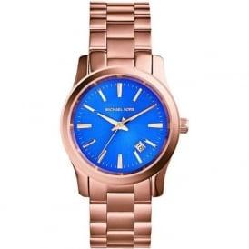 Michael Kors Watches MK5913 Runway Blue & Rose Gold Ladies Watch
